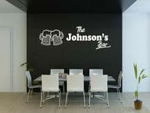 "PERSONALISED Wall Sticker ""The Bar"" Sign Customised Pub Decal Decor Transfer"